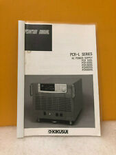 Kikusui Pcr L Series Ac Power Supplies Operation Manual