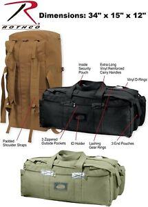 Tactical Canvas Duffle Bag /& Backpack Israeli IDF Mossad Double Strap Knapsack