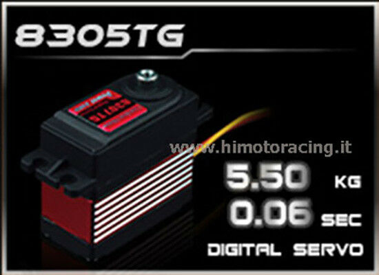 HD-8305TG Servo Digitale 5.5Kg Power HD-8305TG con ingranaggi in titanio