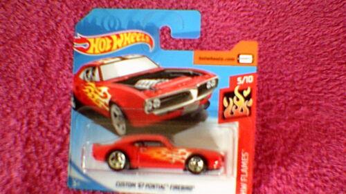 Hot Wheels-UK-Carte #128 Custom/'67 PONTIAC FIREBIRD-Rouge