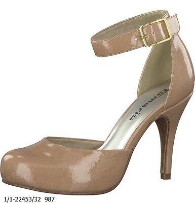 TAMARIS @ Damen Pumps @ Dirndl Schuhe @ Tracht @ Nude Lack @ beige @ 39   eBay