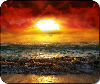 1 X Scenic Beach Ocean Sand Round Mousepad Mouse Pad Great Gift Idea