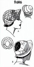 CAP HAT Fabric Sew Pattern Visor GOLF Tennis Sports Summer # 2686 Mail Order VTG