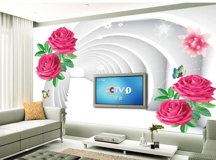 3D Corridor 4066 Wallpaper Murals Wall Print Wallpaper Mural AJ WALL UK Lemon