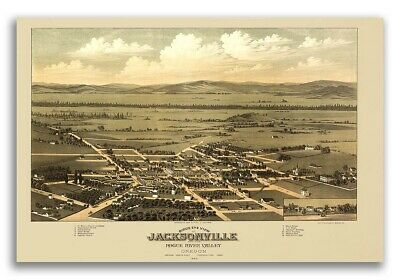 Edmond Oklahoma 1891 Historic Panoramic Town Map 24x36