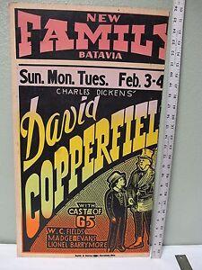 1935 Charles Dickens A Christmas Carol David Copperfield Movie Poster W C Fields | eBay
