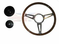 14 Laminated Wood Steering Wheel And Hub Adaptor Triumph Tr4 Tr250 Tr6