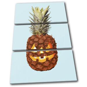 Halloween-Pineapple-Fruit-Food-Kitchen-TREBLE-CANVAS-WALL-ART-Picture-Print