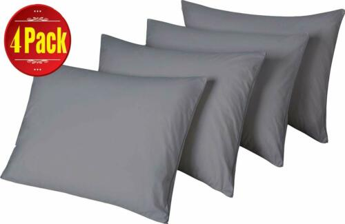 """2 Pack Cotton Pillow Protectors Standard 20 x 26/"""" High 450 Thread Count Style Li"""