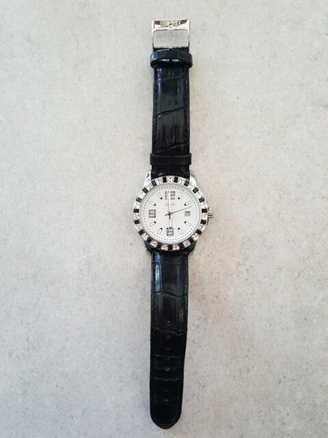 Esprit Uhr Damen schwarz Glitzer