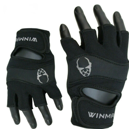 WINMAN Weight Lifting Gloves Gym Fitness Training Home Yoga Workout Exercise BK
