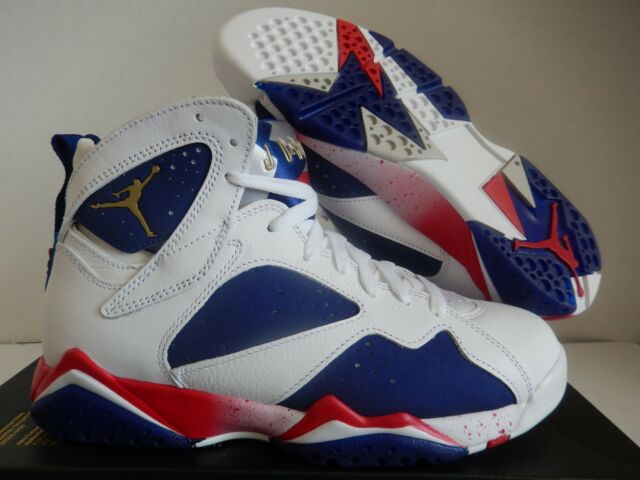 2d60e6f1cd33b7 NIKE AIR JORDAN 7 RETRO OLYMPIC TINKER ALTERNATE WHITE-GOLD SZ 7  304775-