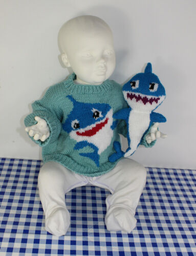 BABY AND TODDLER SHARK SWEATER AND TOY