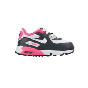 Details zu Original Boys Girls Nike Air Max 90 Toddlers TD Trainers Black White Gold Pink