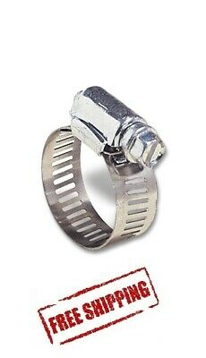 Hose Clamp Worm Gear Stainless Steel Fits # 6 Size Mini band 5//16/'/' to 7//8/'/'