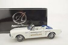 1:18 Ertl Authentics - 1964 (1/2) FORD MUSTANG INDY 500 PACE CAR white - neu/OVP