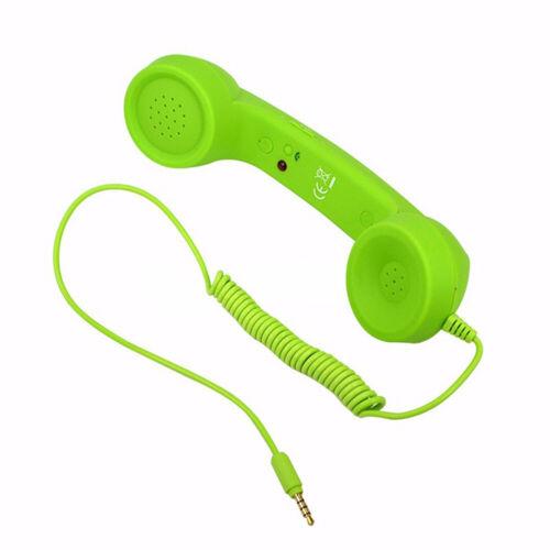 Klassischer Retro Telefonhörer Handy Empfänger für Smartphone Tablet 3,5mm DE