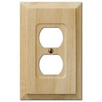 Amerelle Baker Alder Unfinished Wood Switch Plate & Outlet Covers Wallplate