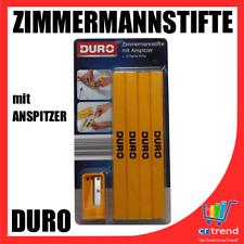 DURO 12 Zimmermannstifte / Zimmermann Bleistifte mit Anspitzer NEU WOW