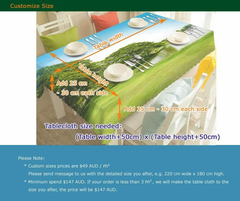A Peaceful Home Home Home 3D Tablecloth Table cover Cloth Rectangle Wedding Party Banquet 75a0d5