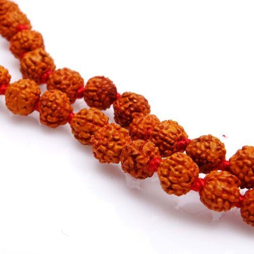 5 Gesicht braun Rudraksha Korn 109 Perlen Japa Mala Meditation Gebet