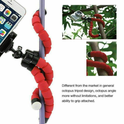 "7/"" Mini flexible Octopus Tripod Phone Mount Stand Holder iPhone Samsung"