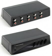 HQ MANUAL 4 PORT AUDIO PHONO SWITCH WITH HEADPHONE JACK