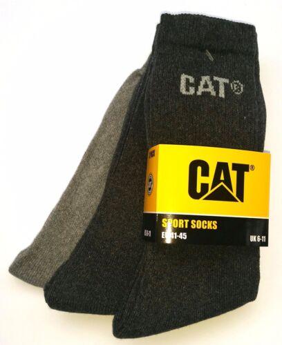 Grau//Hellgrau 41-45|46-50 Socken CAT Caterpillar 9|18 Paar Sportsocken