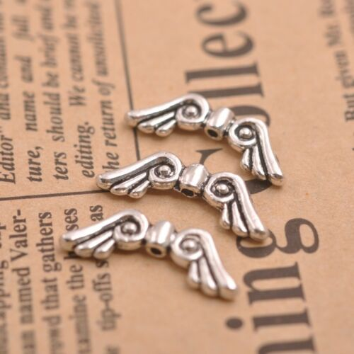Angel Wings Spacer Charms Beads L57 Gold 50Pcs Tibetan Silver Bronze