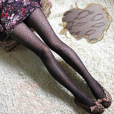 Sexy Womens Heart Lipstick Dots Pattern Jacquard Slim Pantyhose Tights Stockings