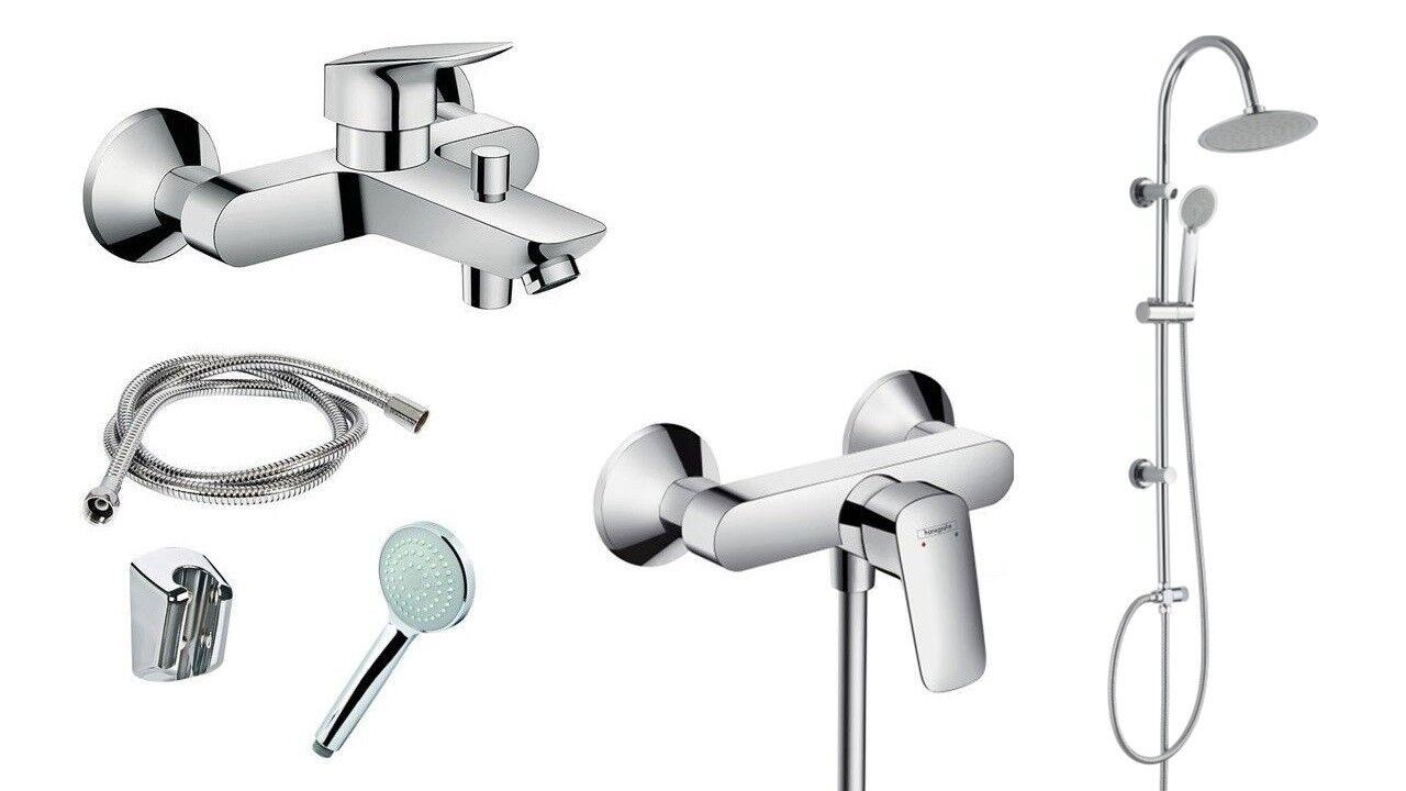 Hansgrohe Logis SET Badezimmer Armatur Dusche Badewanne Regendusche Handbrause