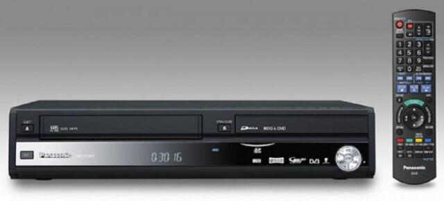 Panasonic DMR-EX98V Noir DVD & VHS Enregistreur avec 250gb HDD - Tnt - Noir