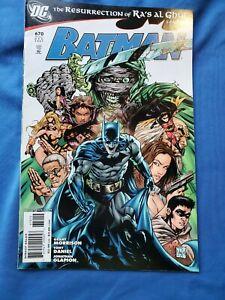 BATMAN 670 C MID+GRADE 2ND PRINT DC COMICS 2007 'RA'S AL GHUL PRELUDE' HTF KEY