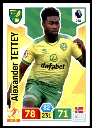 Alexander Tettey Norwich No.248 Panini Premier League ADRENALYN XL 2019//20