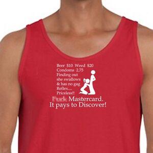 6acc6e1f5ed45 F  K MASTERCARD Funny Raunchy T-shirt Mens Dirty Humor Men s Tank ...