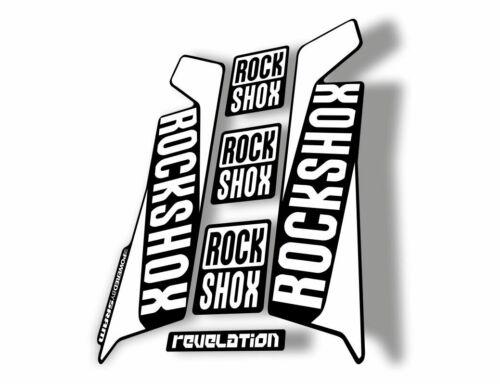 Rock Shox REVELATION 2016 Mountain Bike Cycling Decal Kit Sticker Adhesive White