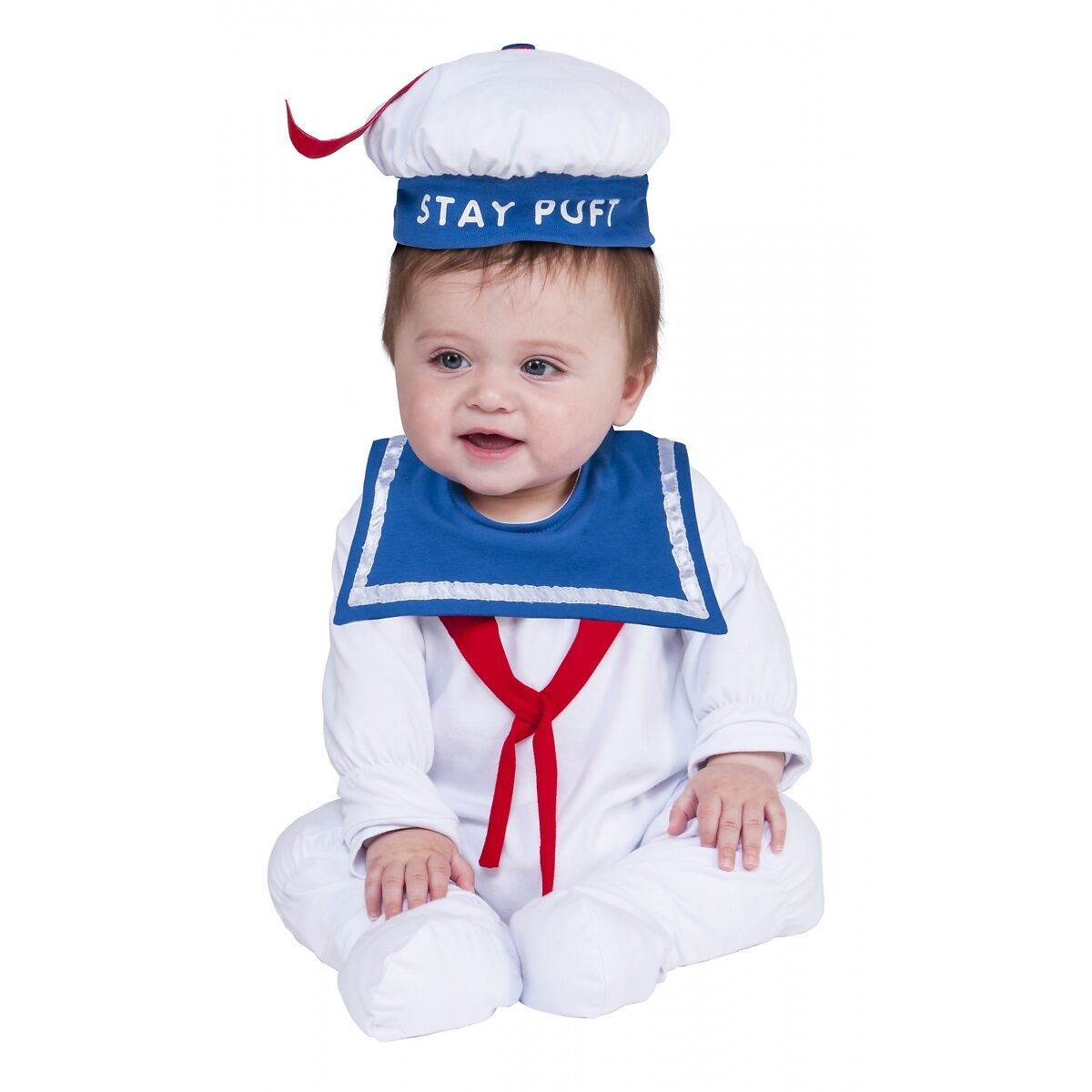 Ghostbusters Stay Puft Marshmallow Man Costume Halloween Fancy Dress