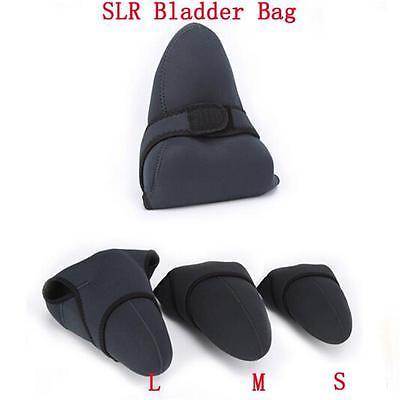 2 Soft Camera Sides Use Neoprene SLR DSLR Liner Case Easy Bag Sleeve Pouch Black