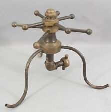 RARE Antique Unique Brass Double Spinning Lawn Sprinkler Industrial Design