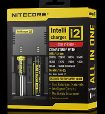 NITECORE i2 v2014 Intelli charger Li-ion 26650,18650,18350 Ni-MH Ni-Cd AA AAA