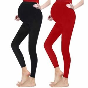 Ladies-Maternity-Over-Bump-Leggings-Pants-Stretchy-Full-Ankle-Length-Pregnancy