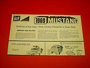 MPC-1969-Mustang-Original-Model-Car-Instruction-sheet-L-K