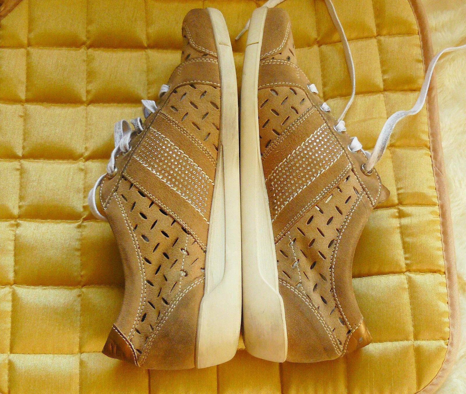 Janet Sport Gr  39  Gr Sneakers echt Leder  Beige Gold NEU  NP. 170 Euro 6ba080