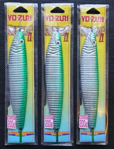 3x YO-ZURI Pilker Metallic Sardine 200gr 3D Augen Norwegen Dänemark Ostsee