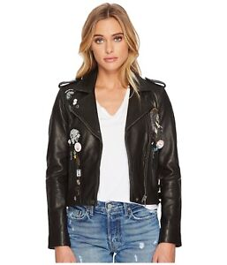 LUCKY BRAND Women/'s Moto Leather Jacket