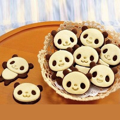 Set of 4 Panda Cookie Cutter Mould Biscuits Super Kawaii Cute Pastry Baking Mold