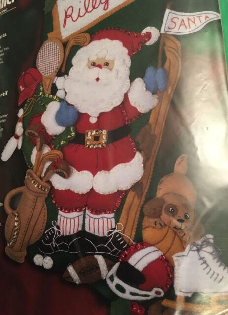 Bucilla Sports Santa Felt Applique Stocking Kit 85322