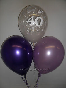Image Is Loading 10 Table Party Kit 40th Birthday Helium Balloons