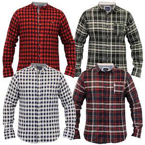 Mens Shirt Brave Soul Soft Brush Check Tartan Lumberjack Grandad Long Sleeved