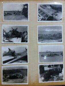 1941-1942-Vintage-Japan-Nippon-Airways-Airplane-Crash-Photo-Album